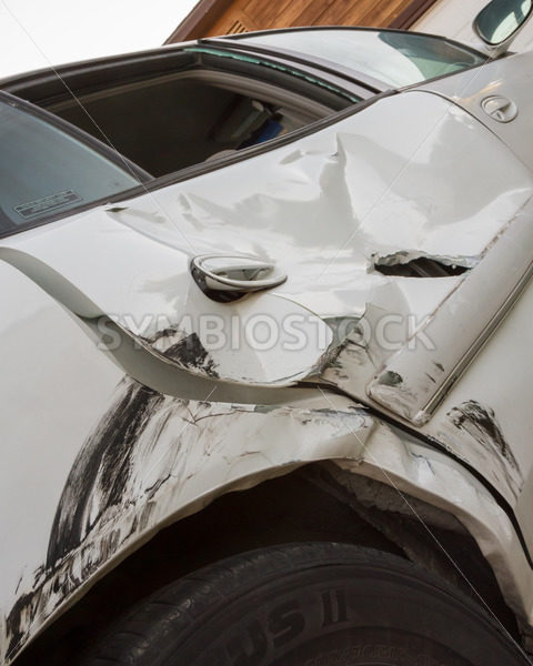 Auto crash with a caved in door – Stock Images 4 You
