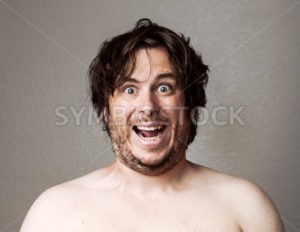 Crazy Man looking at the camera - Stock Images 4 You