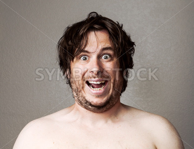 Crazy Man looking at the camera – Stock Images 4 You