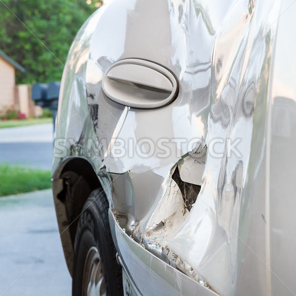 Crumped door due to an accident – Stock Images 4 You