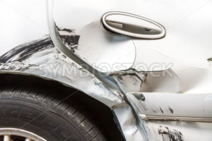 Damaged from an auto accident - Stock Images 4 You