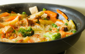 Food cooking in a pan - Stock Images 4 You