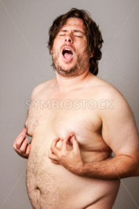 Man pleasuring his own nipples - Stock Images 4 You