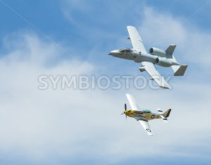 Modern and Old. A-10 and P-51 - Stock Images 4 You