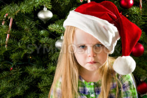 Sad little girl during christmas - Stock Images 4 You