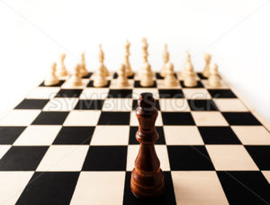 Single chess piece the King standing up against many of his enemies. - Stock Images 4 You