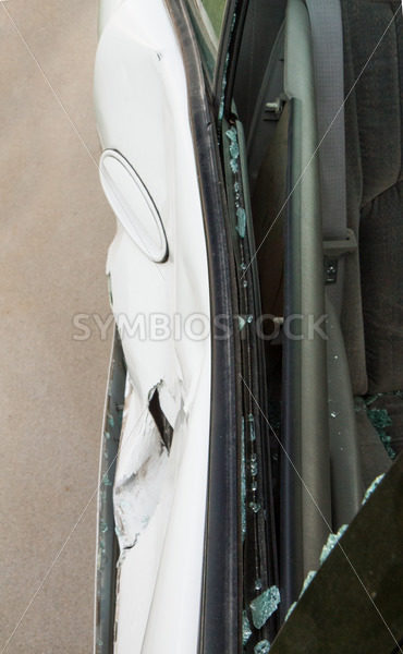 Top down view of a smashed in door. – Stock Images 4 You