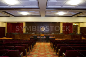 View down the isle of the idaho state auditorium - Stock Images 4 You