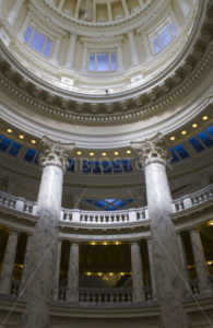 View up the pilars at the boise capital - Stock Images 4 You