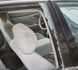 Window broken due to auto accident - Stock Images 4 You