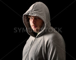 Young man in the dark of night - Stock Images 4 You
