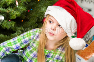 portrait of a young girl during christmas day - Stock Images 4 You