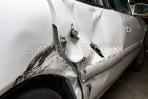 Dented up car from a wreck - Stock Images 4 You