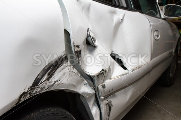 Dented up car from a wreck – Stock Images 4 You