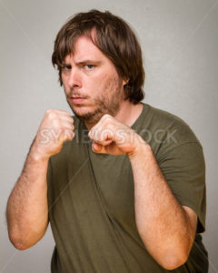 Fist up and ready to brawl - Stock Images 4 You