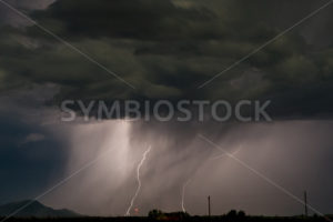 Image of lightning striking the ground  - Stock Images 4 You