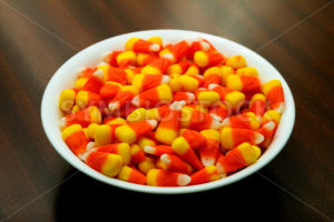 Large bowl of candy corn - Stock Images 4 You