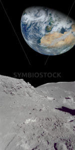 Looking at the earth from our moon - Stock Images 4 You