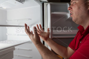 Sad man with no food available - Stock Images 4 You