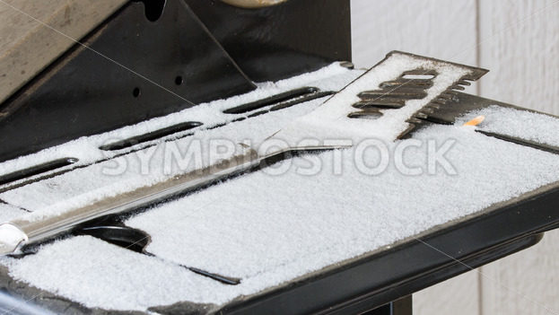 Spatula left out in the winter – Stock Images 4 You