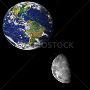 The moon near the earth - Stock Images 4 You