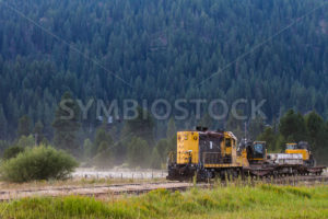 Trail moving through the country - Stock Images 4 You