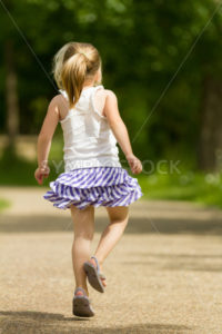 Young girl skipping away - Stock Images 4 You