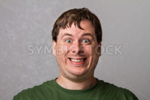 guy making a weird smile - Stock Images 4 You